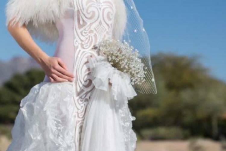 Custom design wedding dress