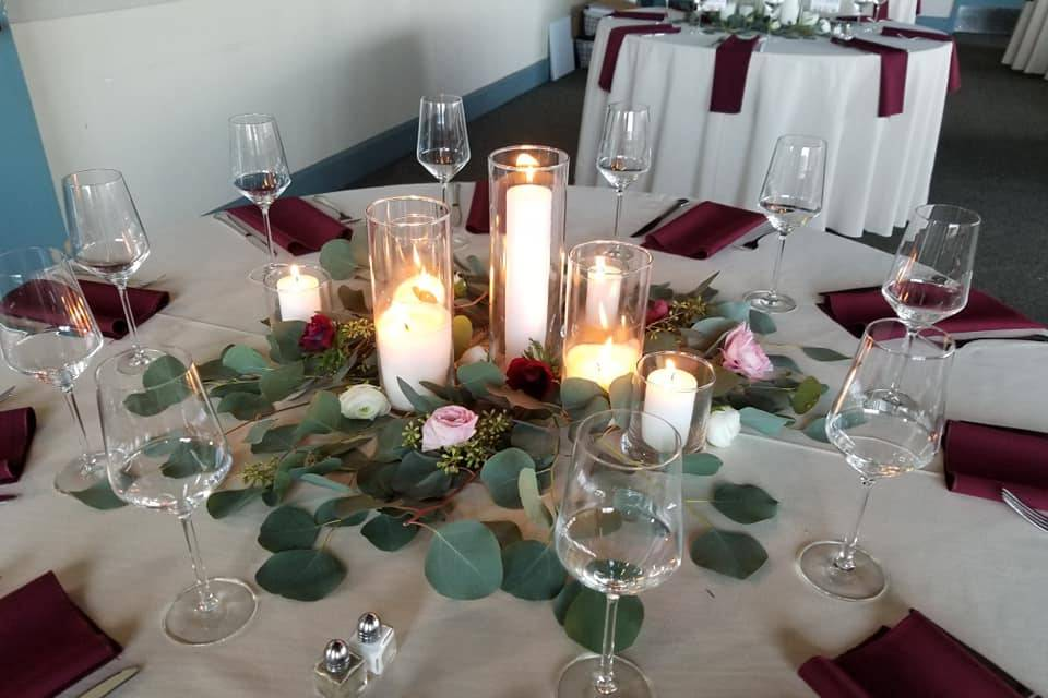 Table Centerpiece with candles