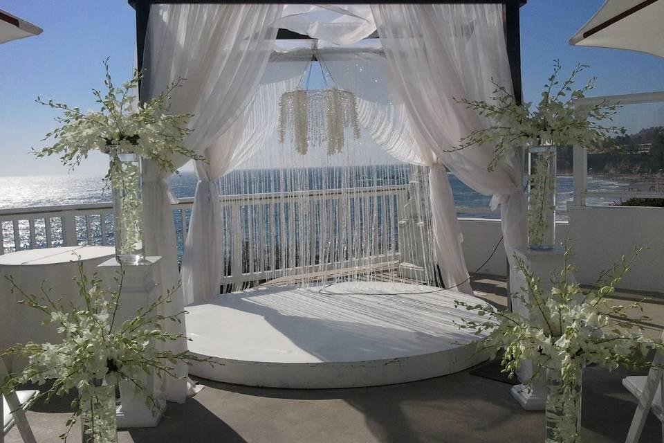 A ceremony setup