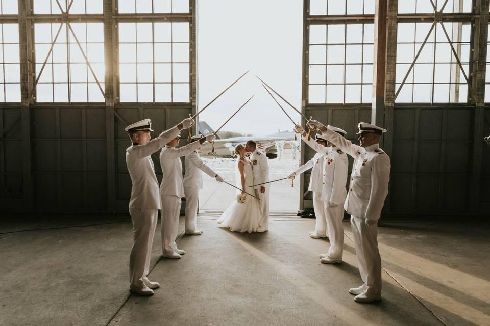 Navy Cape May Wedding
