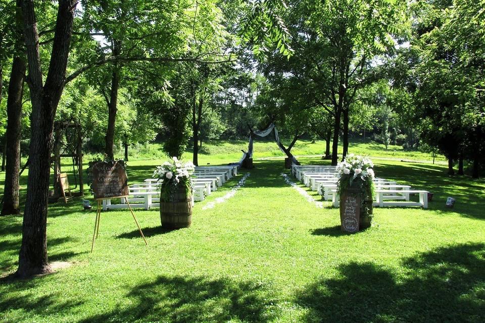 Beautiful Ceremony Area