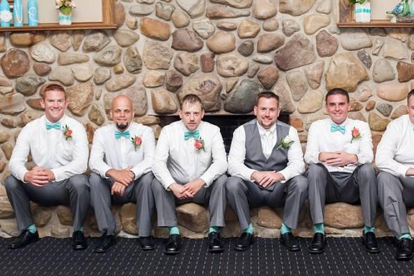 Groom and the groomsmen