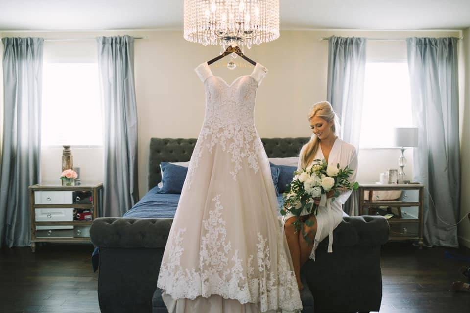 Getting ready bridal suite