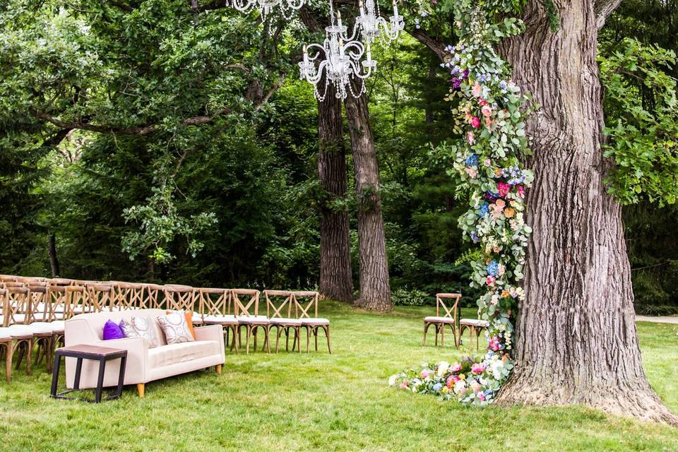 Stunning ceremony setup