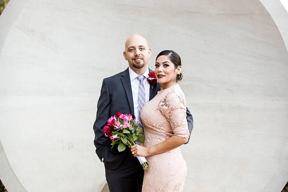 Chic wedding couple - Elizabeth B Photography