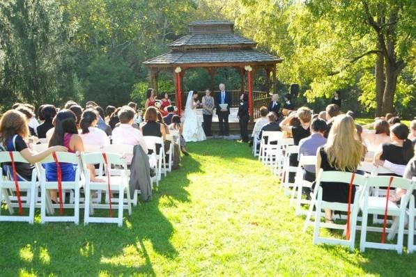 Ceremony at the beautiful Gazebo