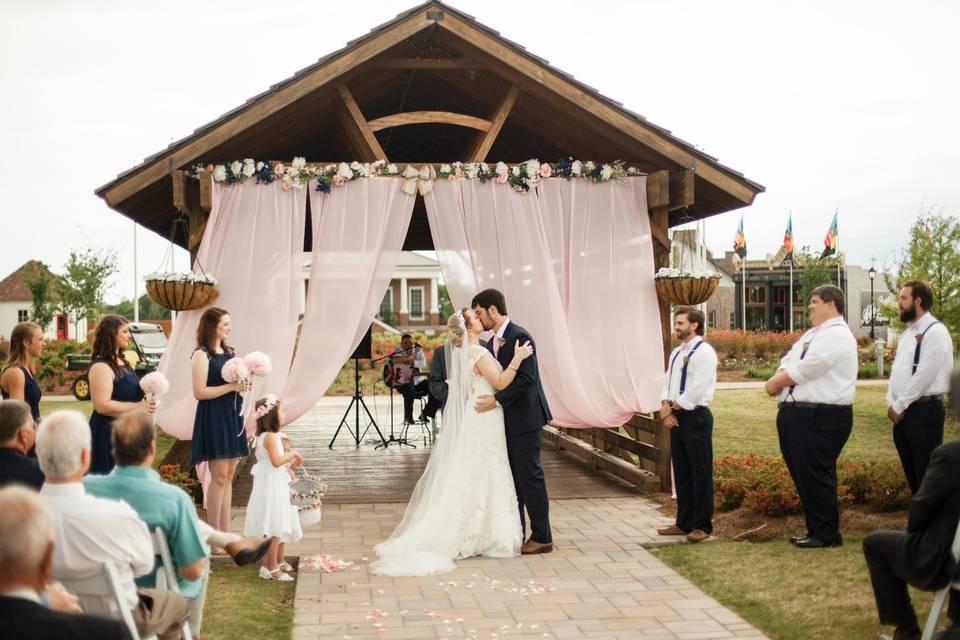 Covered bridge ceremony