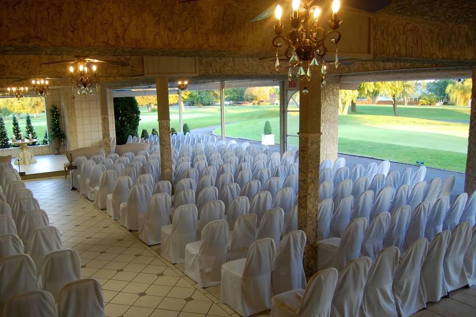 Indoor and outdoor ceremony spaces