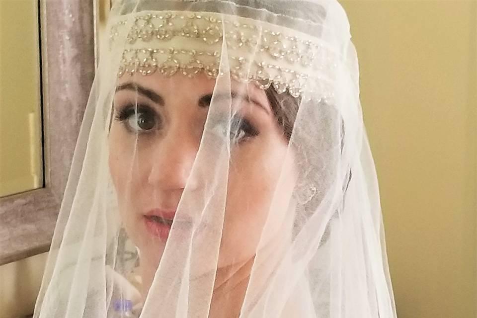Gatsby bride vintage
