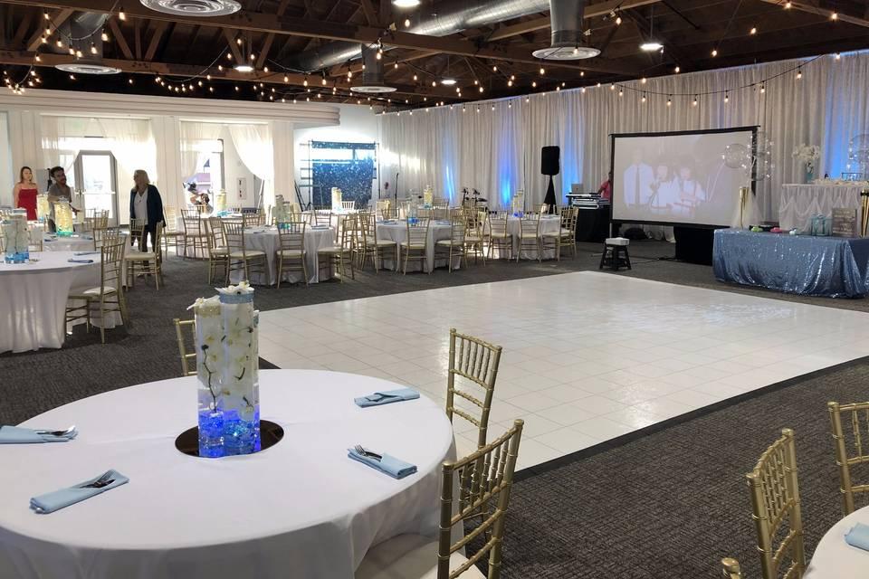 2nd floor empty wedding setup