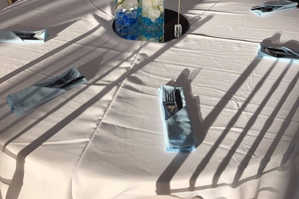 2nd floor empty wedding table