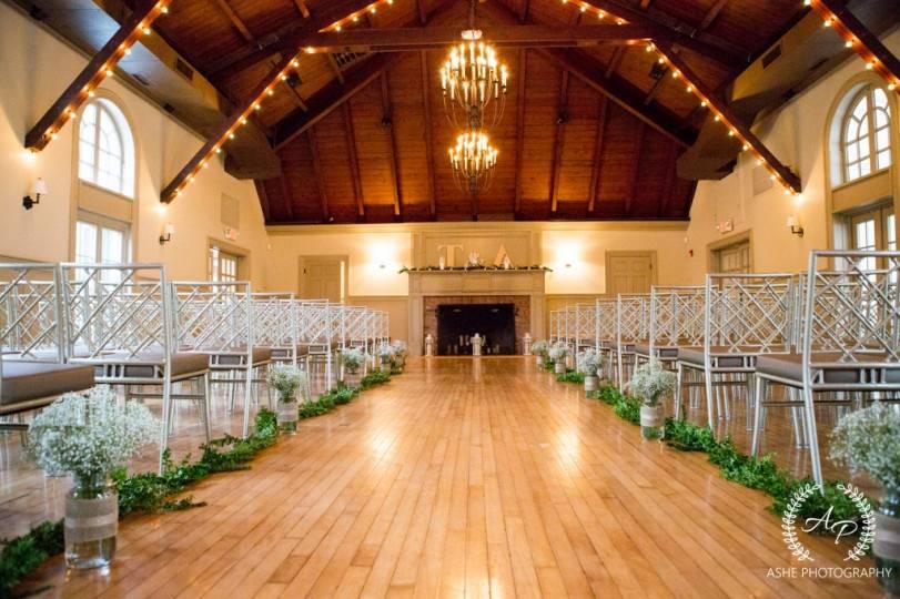 Indoor ceremony area