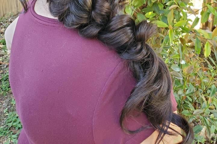Romantic side braid