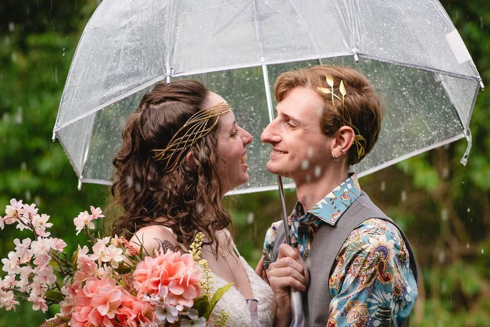 Rain on the wedding day!