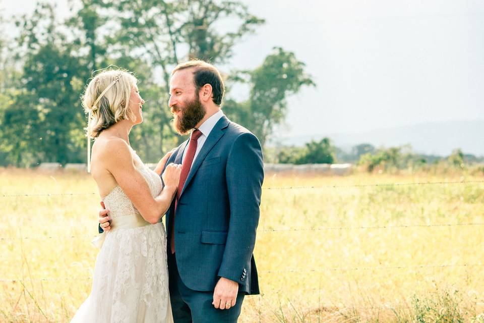 Newlyweds in the pastures