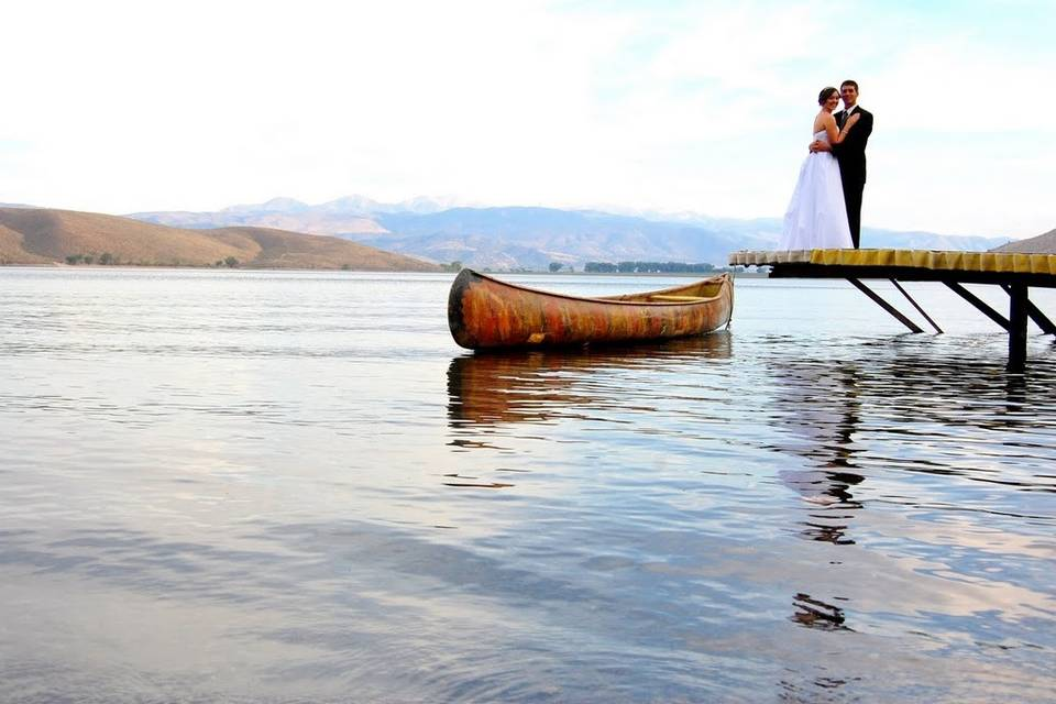 Kissing on the dock