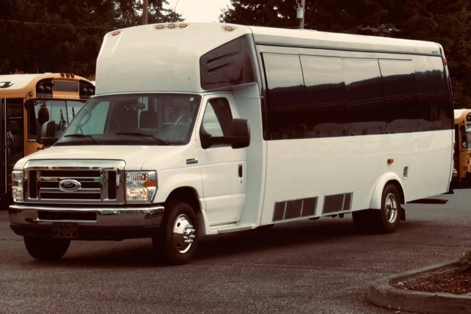 Luxury shuttle bus - exterior