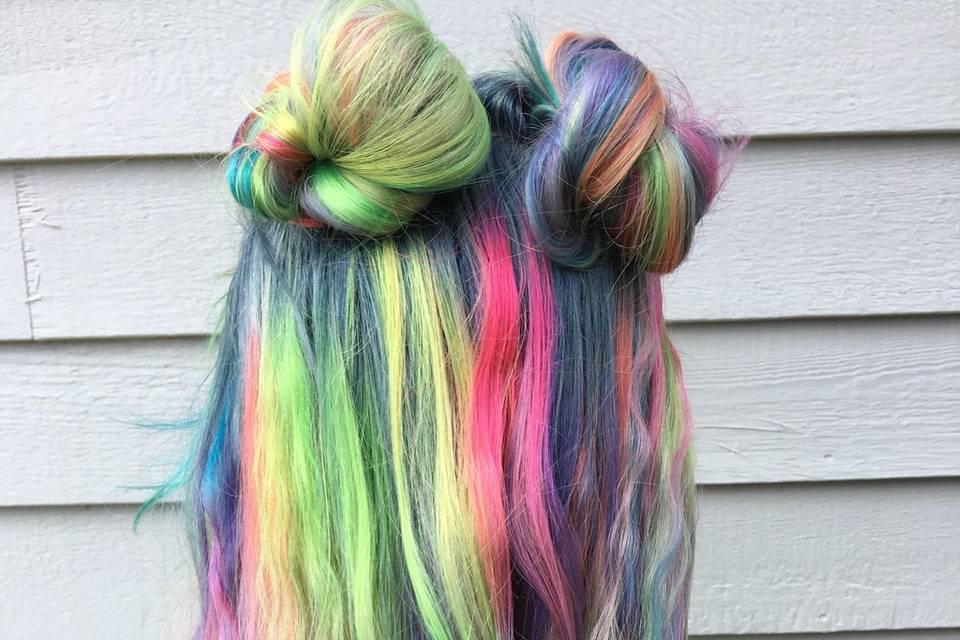 Colorful hair design