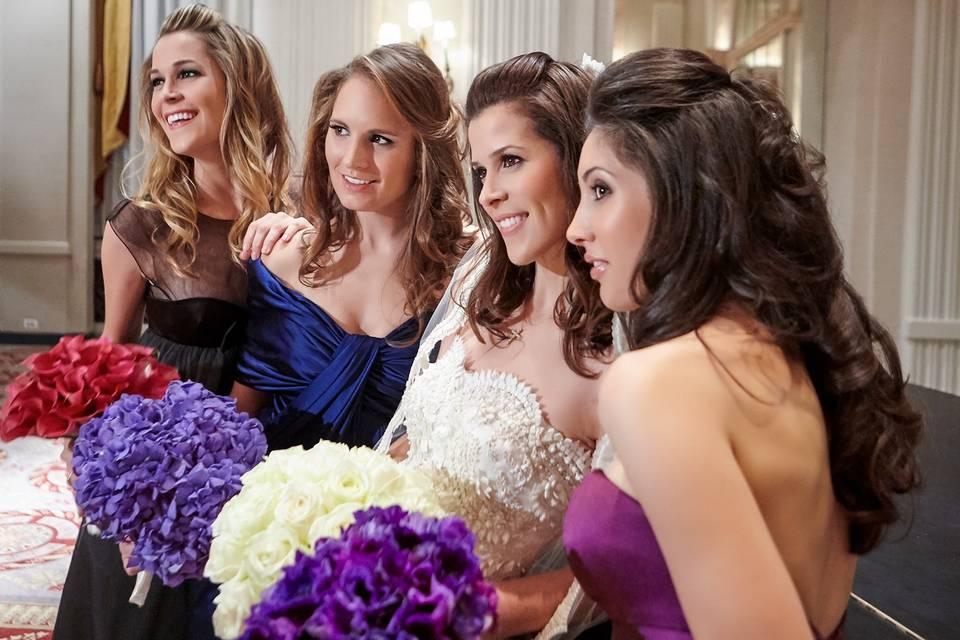 Bride and bridesmaids - Argyle