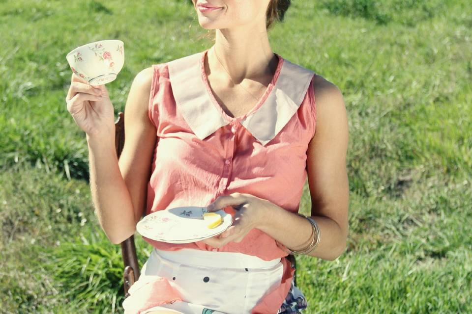 Country fashion tea party