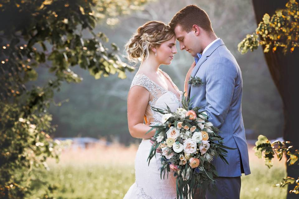 Hitched at Turkey Trac Farms - bride and groom