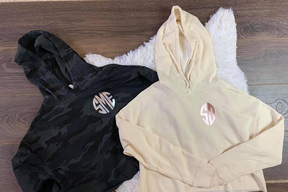 Custom Cropped Ladies Hoodies