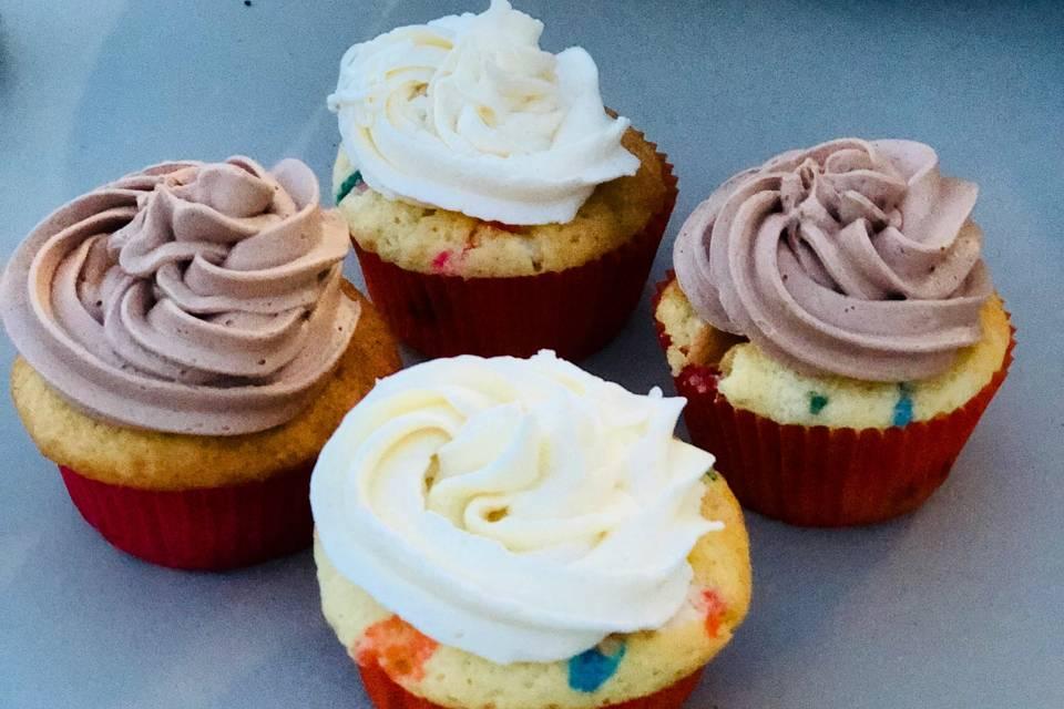 Nutella and vanilla cupcakes