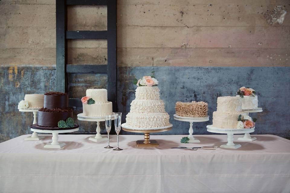A collection of cakes