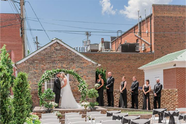 Outdoor ceremony or cocktail