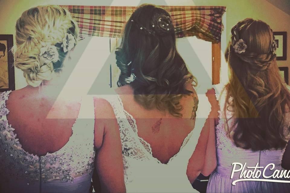 Gorgeous hair on these ladies!