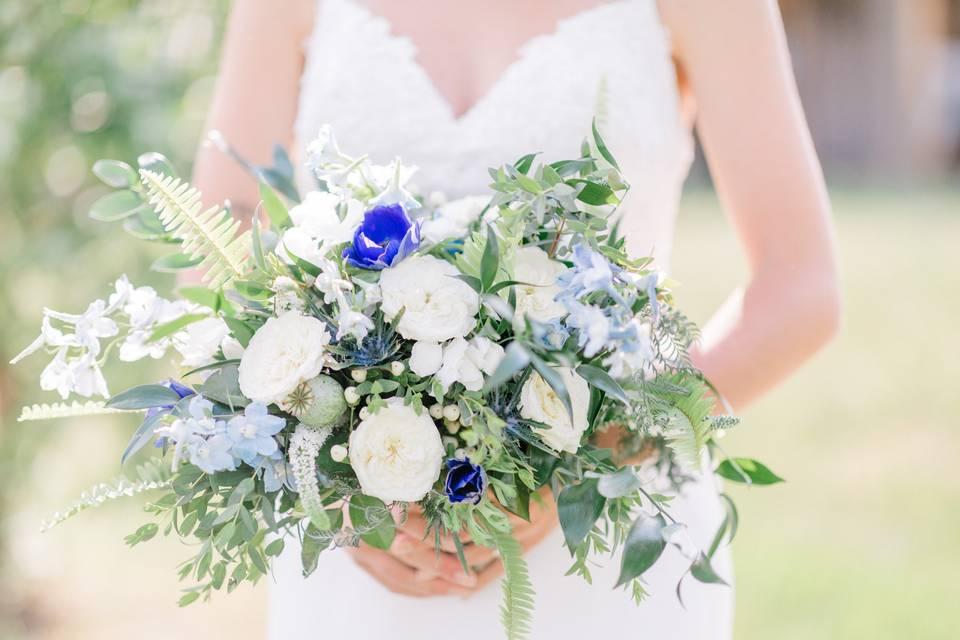 Blue Garden Style Bouquet