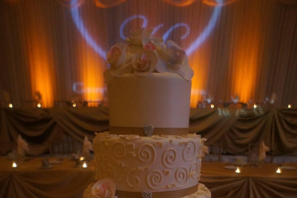 Gourmet wedding cake