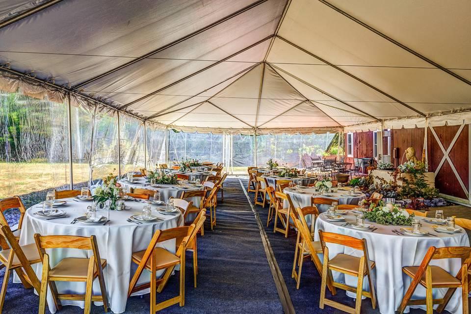 Tent reception set-up