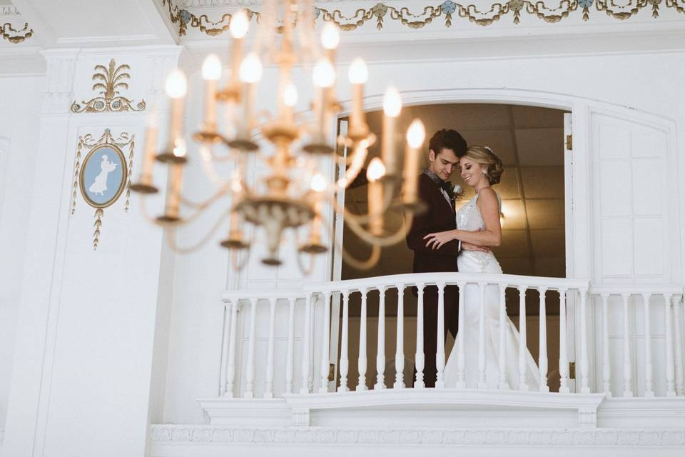 Couple by the balcony