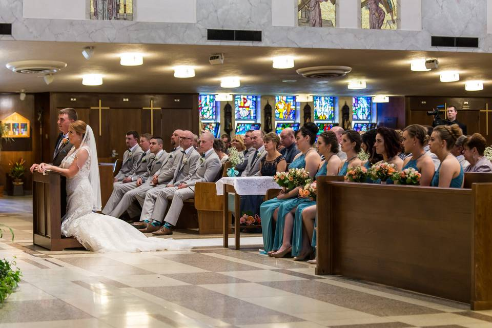 Ceremony at St Cletus