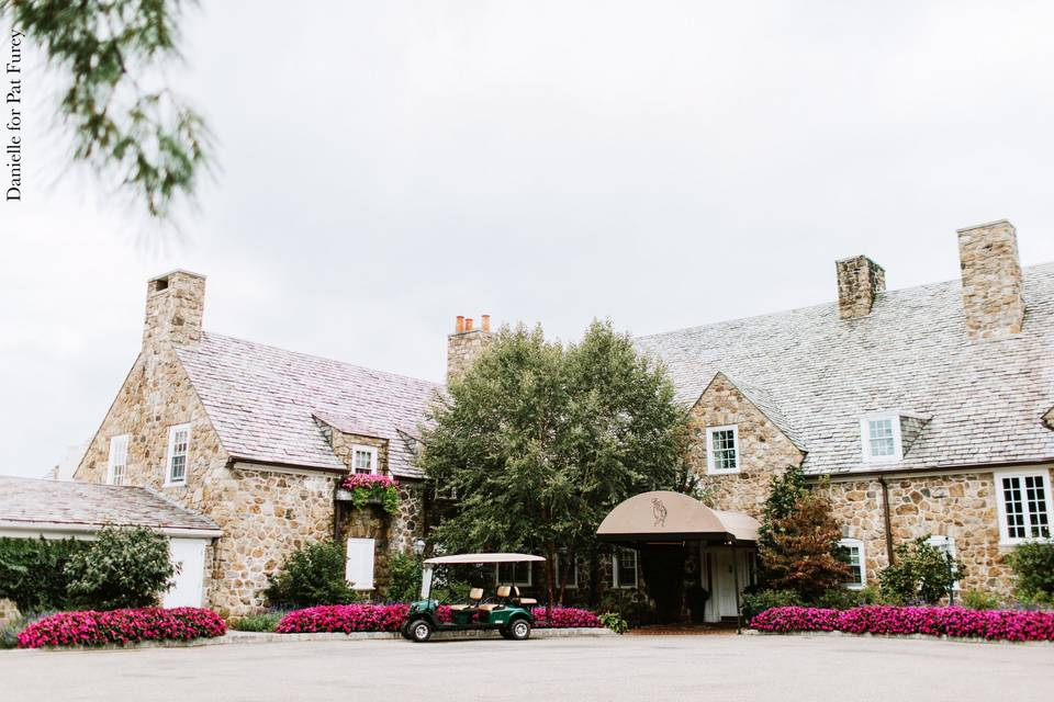 The Front of the Stone Manor