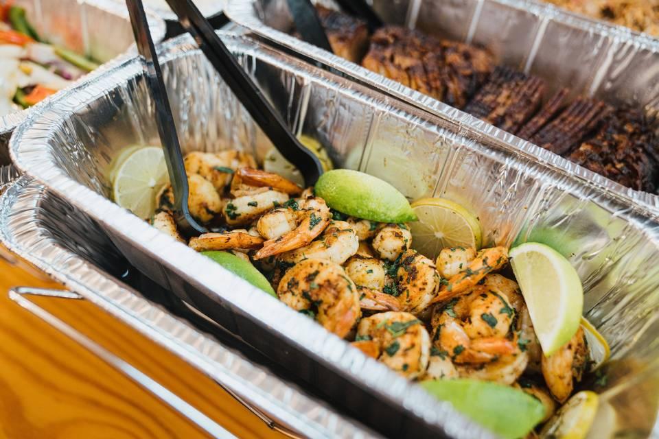 Grilled lime shrimp
