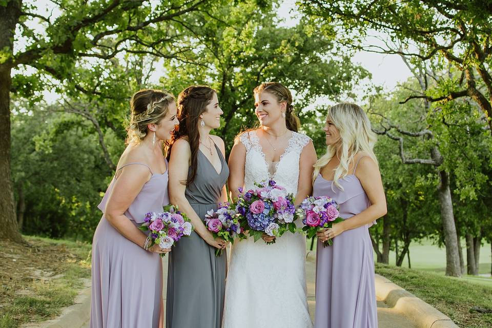 A bride and her maids