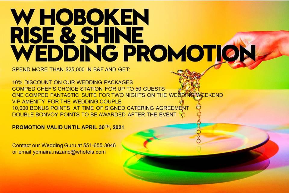 Rise & Shine Wedding Promotion