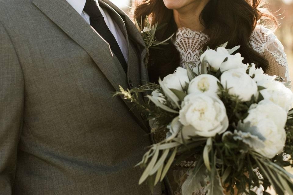 Joyful newlyweds