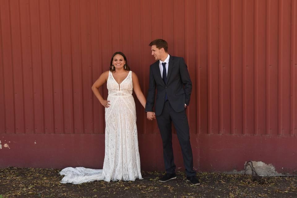 Smitten over his new wife!