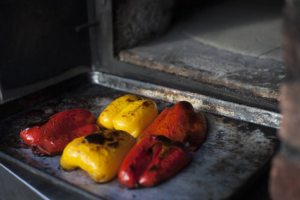 Wood roasted peppers