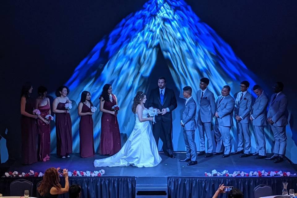 Ceremony on stage