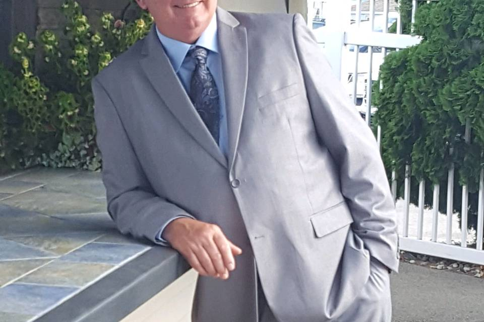 Custom fit light grey suit
