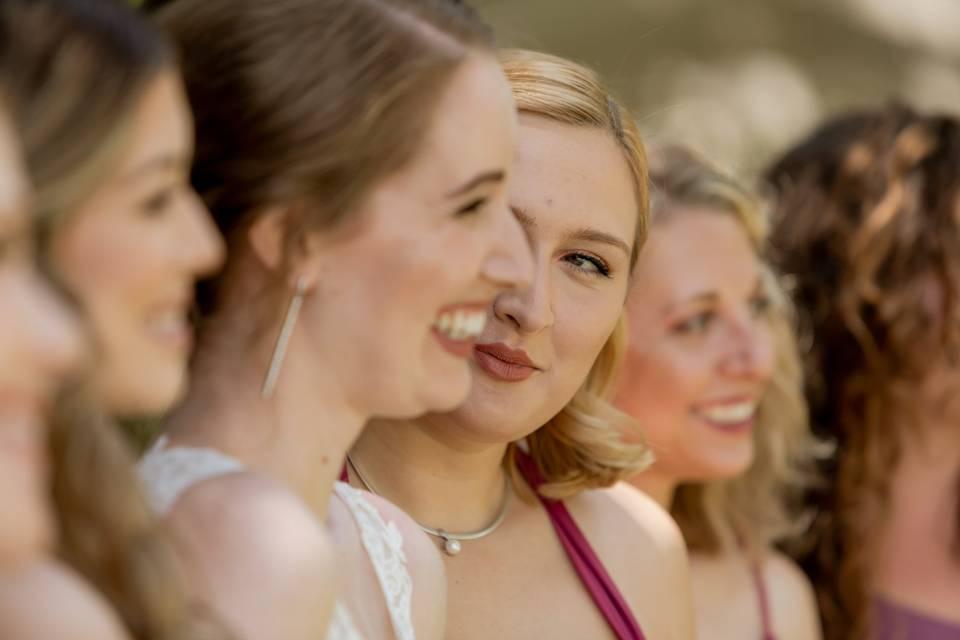 Bridesmaids candid - Mackenzie Rana Photography