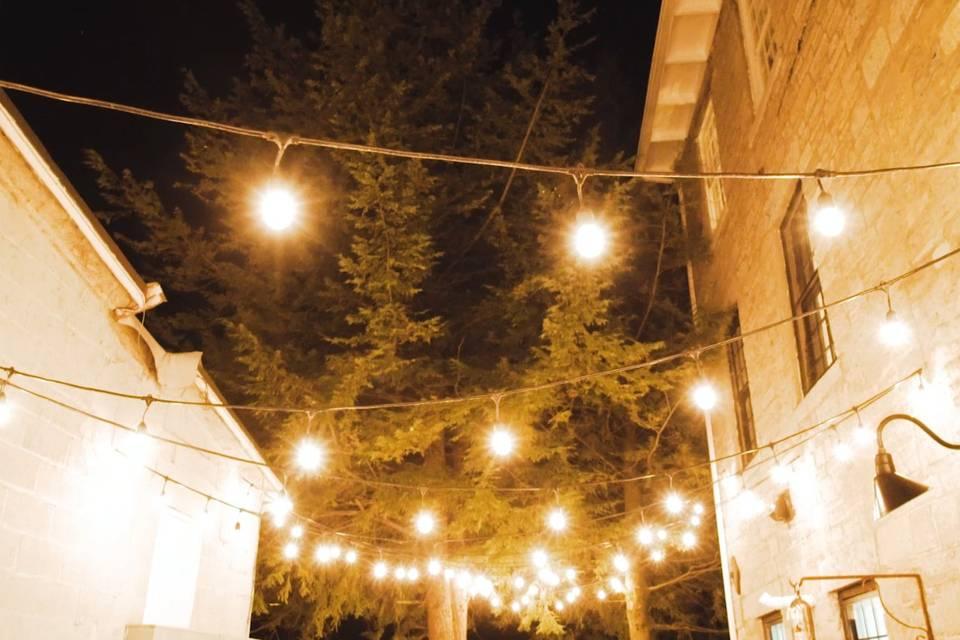 Romantic string lights