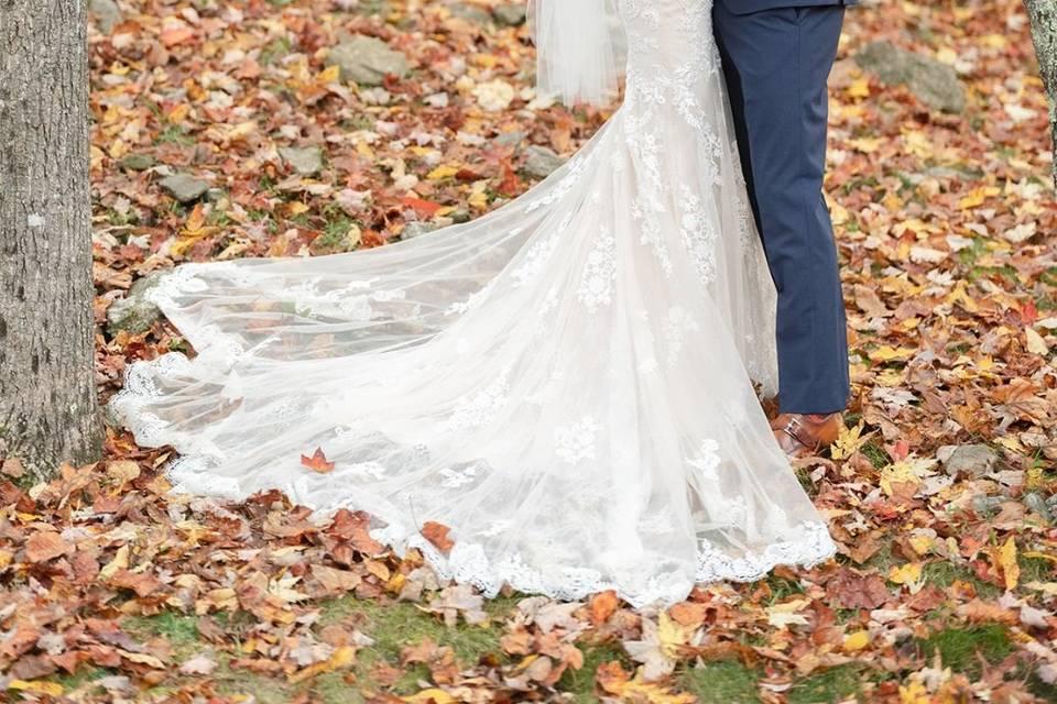 Fall Wedding - First Look!