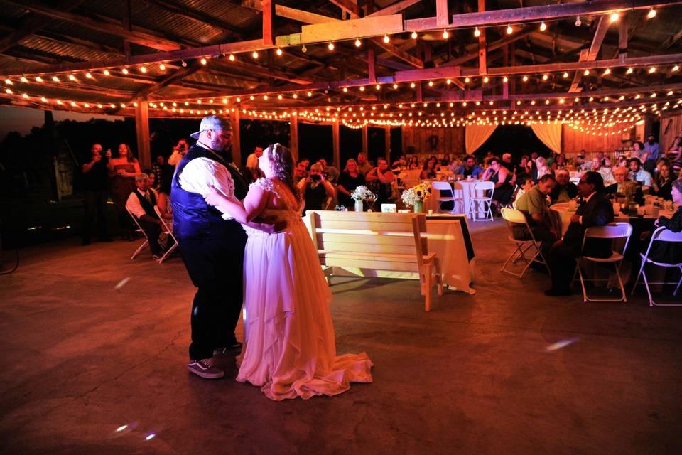 A romantic first dance