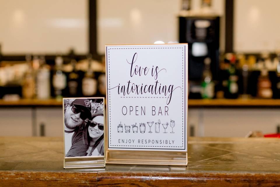 Bar signage