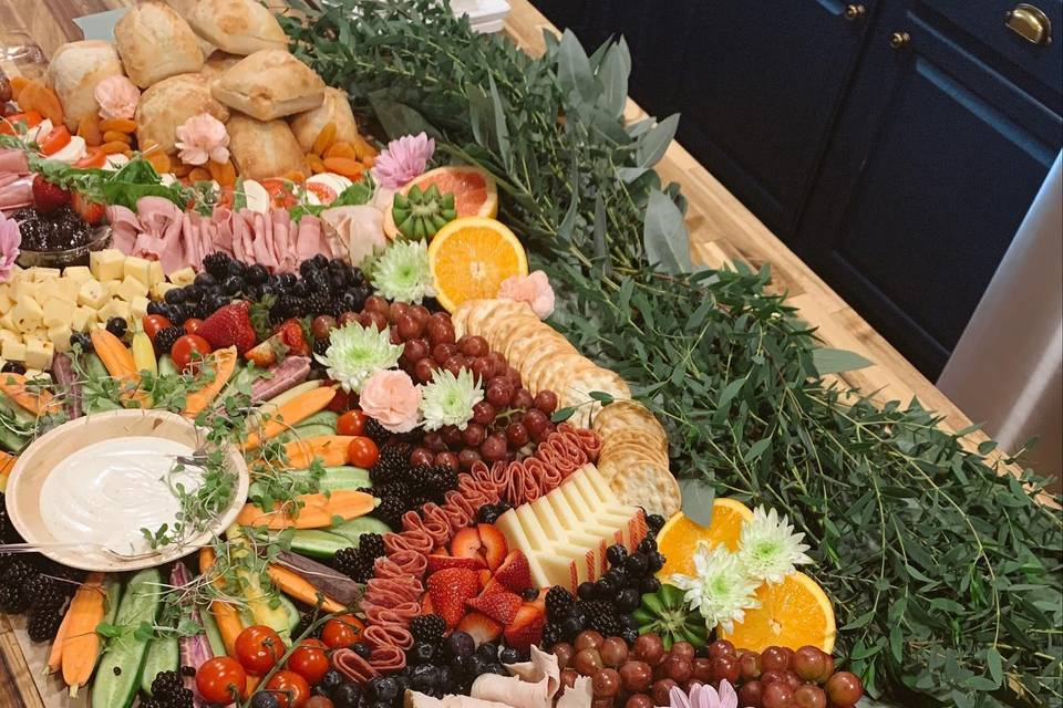 Grazing Table with Veggies